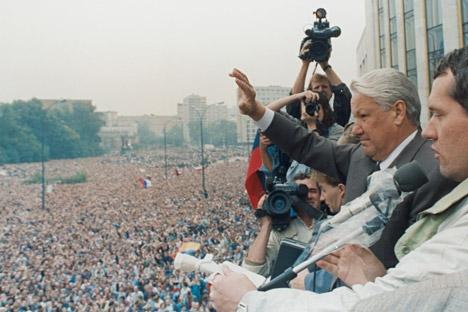 Boris Iéltsin assumiu o poder da RSFSR em 1991 Foto: Reuters