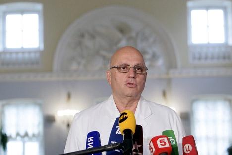 """Khubutia: """"É difícil falar sobre transplante de cabeça antes de viabilizar a regeneração da coluna"""" Foto: Ruslan Krivobok/RIA Nóvosti"""
