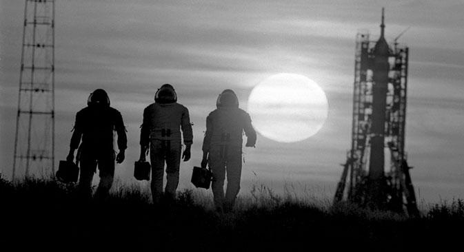 Cosmonautas pouco antes de lançamento na década de 1980 Foto:  Fotosoyuz / Vostockphoto