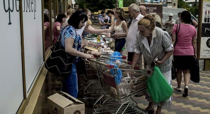 Quase metade das 2,5 milhões da pessoas que vivem no território de Donbass são pensionistas Foto: RIA Nóvosti