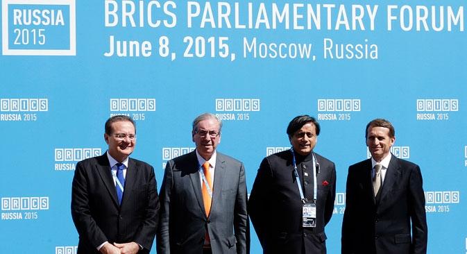 Primeiro fórum parlamentar do Brics foi realizado em Moscou no último dia 8 Foto: Aleksandr Chaláguin/TASS
