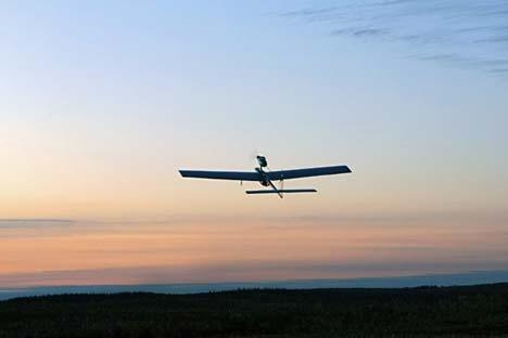 Novo drone é capaz de fazer reconhecimento aéreo independentemente das condições meteorológicas Foto: Aleksêi Dánitchev/ RIA Nóvosti