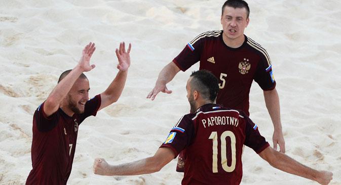 Gol decisivo foi marcado por Igor Chaikov na prorrogação Foto: Aleksêi Filippov/RIA Nôvosti