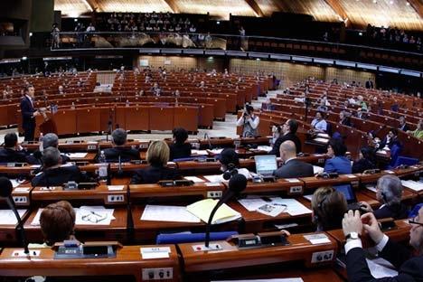 Delegação russa perdeu direito de voto durante sessão plenária da APCE no início do ano Foto: Reuters