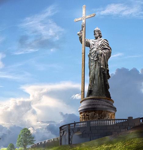 Obra será inaugurada em novembro de 2015, ano que marca um milênio desde a morte do cristianizador da Rússia Foto: Sociedade Histórico-Militar da Rússia