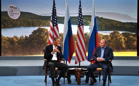 Obama e Pútin concordaram em permanecer em contato enquanto o acordo for implementado Foto: Kremlin.ru