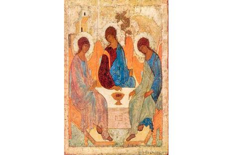 """""""Santíssima Trindade"""" é uma das ícones mais conhecidas de Rubliov Foto: Press Photo"""