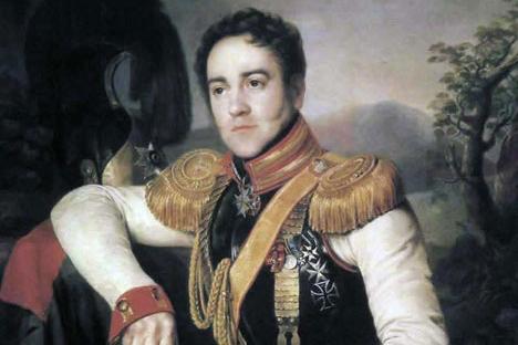 Retrato de ajudantede campo Apraksin, em 1827