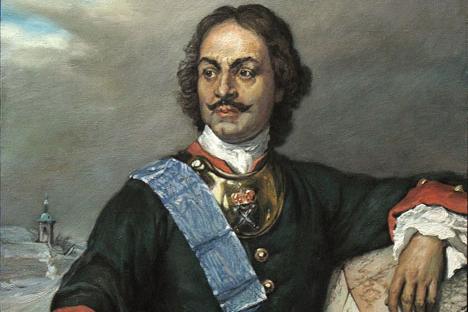Tsar Piotr, o Grande com o uniforme do regimento Preobrajenski Imagem: Wikipedia.org