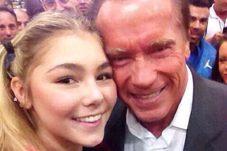 """Naumova: """"""""Quando eu vi Arnold, não consegui segurar a emoção e comecei a chorar"""" Foto: arquivo pessoal"""