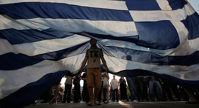 """Para Chokhin, há grandes chances de que a Grécia """"aprenda a reaplicar rótulos"""" Foto: EPA"""