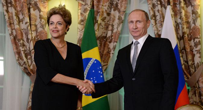 """Dilma: """"Precisamos alcançar o objetivo de 10 bilhões nas trocas comerciais"""". Foto: Aleksêi Fillipov/RIA Nóvosti"""