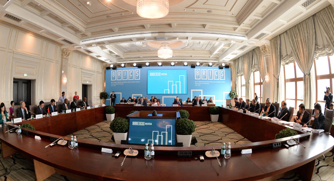 A meeting of the finance ministers and the governors of the central banks of BRICS countries, and members of the New Development Bank Governing Council, Moscow, July 7. Source: TASS