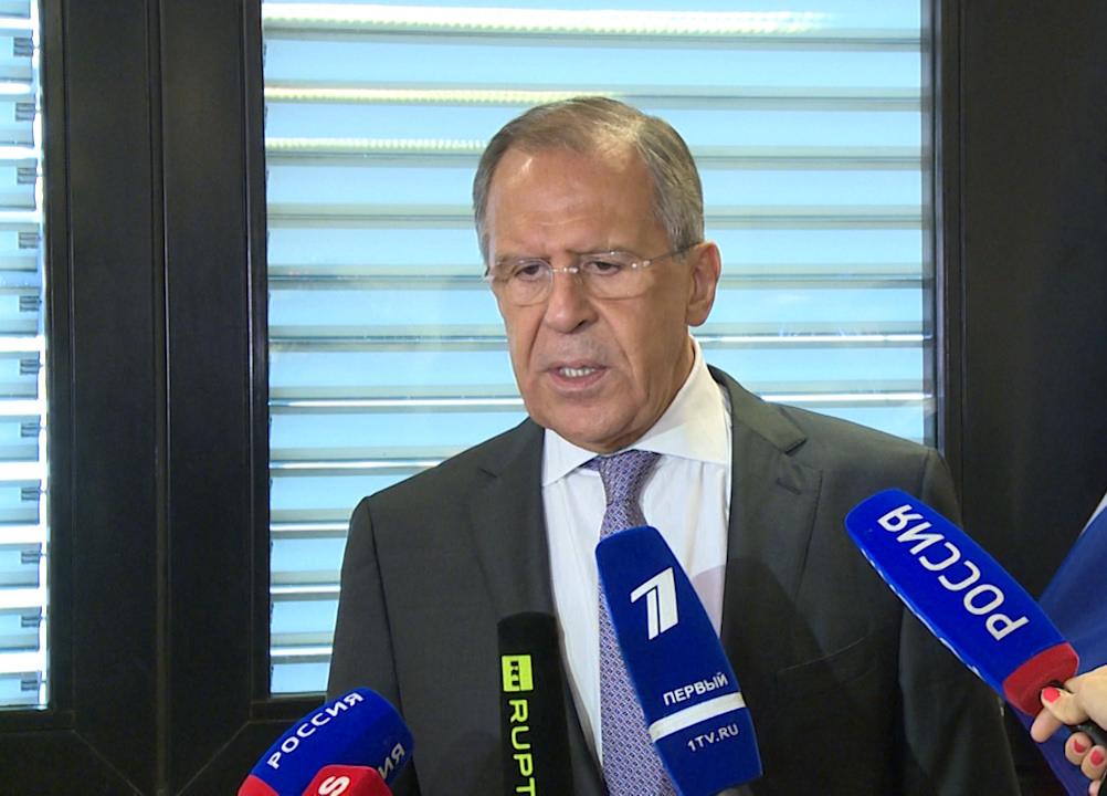 """Lavrov: """"Neste, e em outros encontros, reforçamos a comunhão de nossas abordagens""""."""