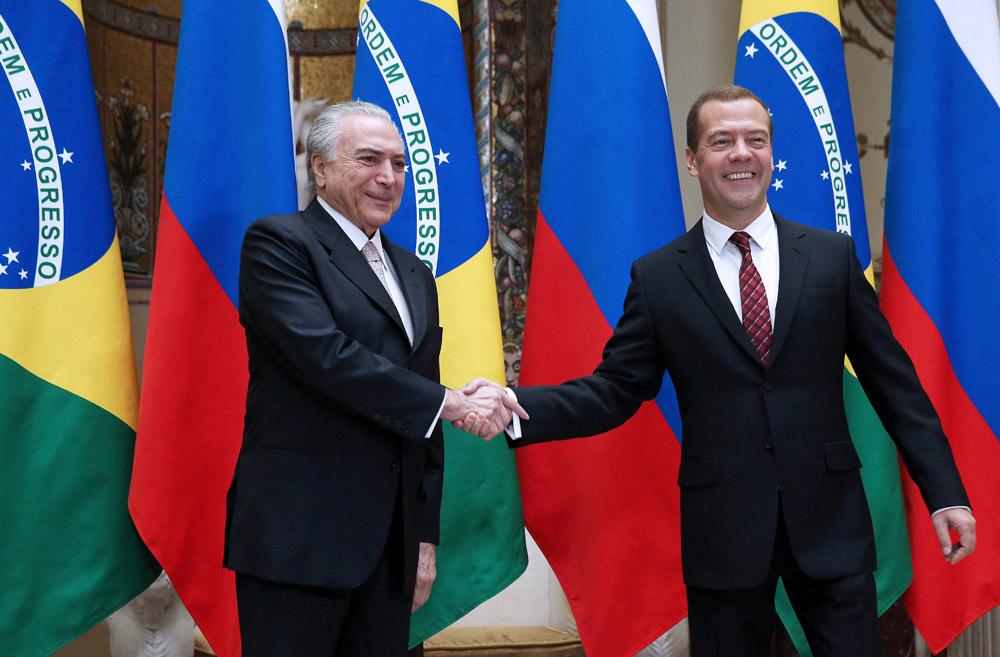 Vice-presidente encontrou-se com premiê russo Medvedev