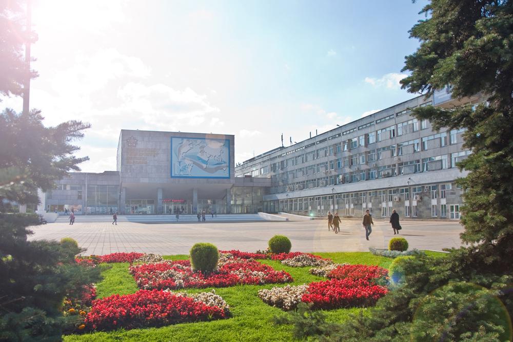 O prédio principal da universidade, na zona leste da capital.