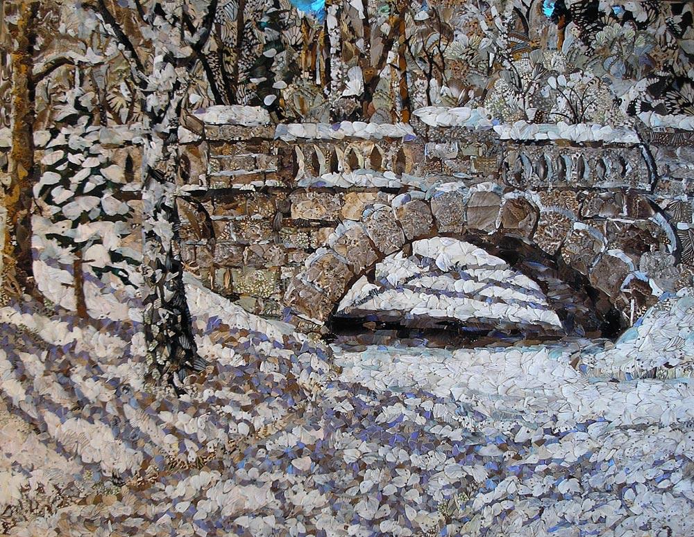 """""""Ponte em floresta de inverno"""", Vadim Zarítski"""