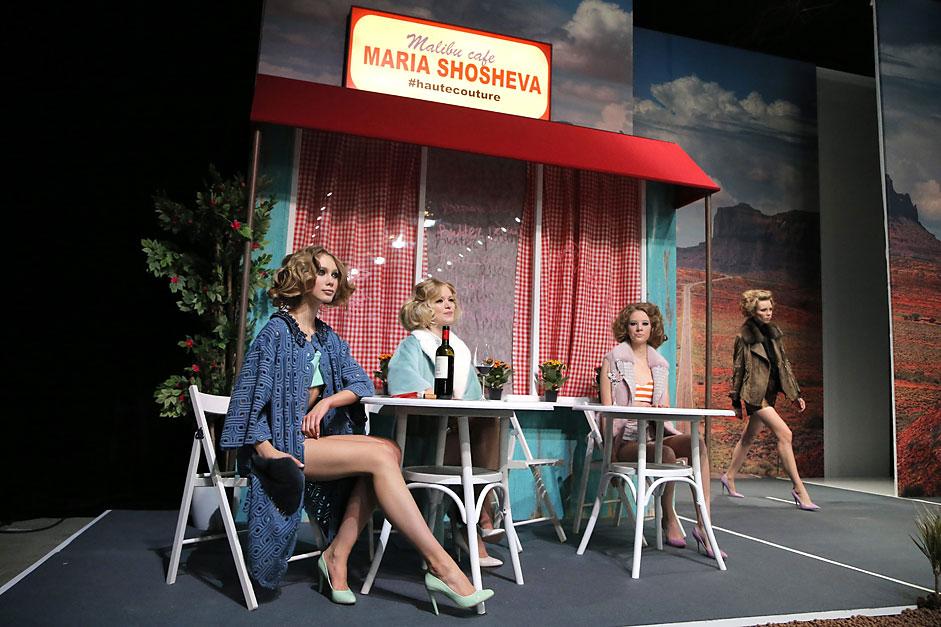 Колекцията на руския дизайнер Мария Шошева в рамките на Moscow Fashion Week.