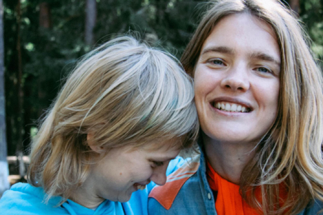 Natalia Vodianova with her sister Oxana. Source: Personal archive