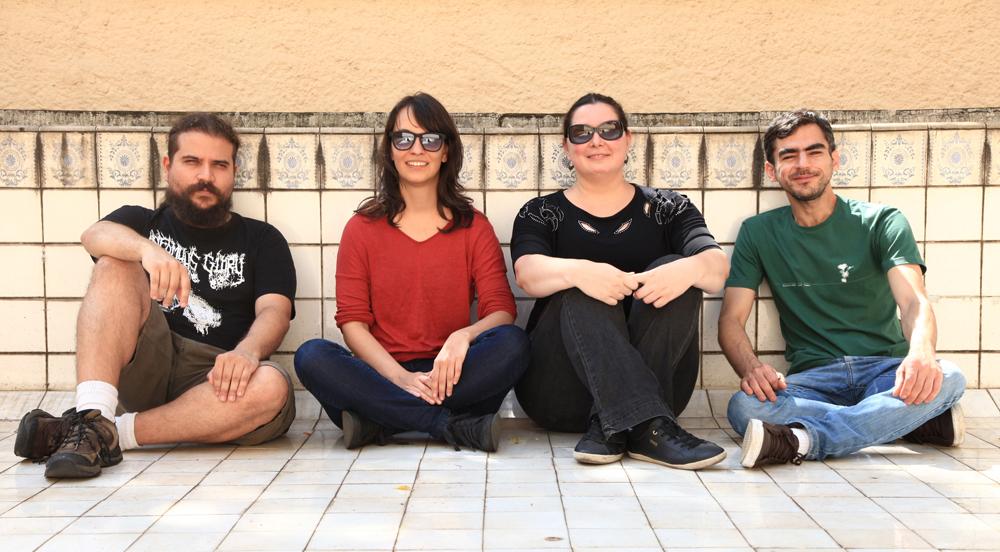 Da esq. para a dir., Lucas Simone, Cecília Rosas, Graziela Schneider e Francisco Araújo