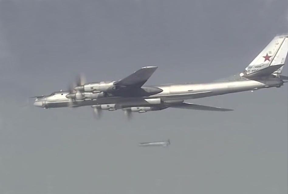 Bombardeiro Tupolev 95  lança ofensiva aérea contra o EI na Síria.