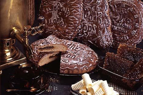 O pão de mel mais famoso da Rússia é produzido em escala industrial na cidade de Tula, a cerca de 200 km a sul de Moscou.