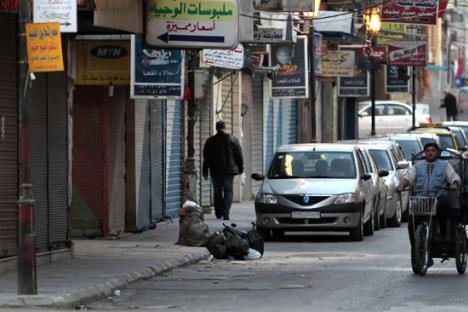 Per le strade di Latakia.