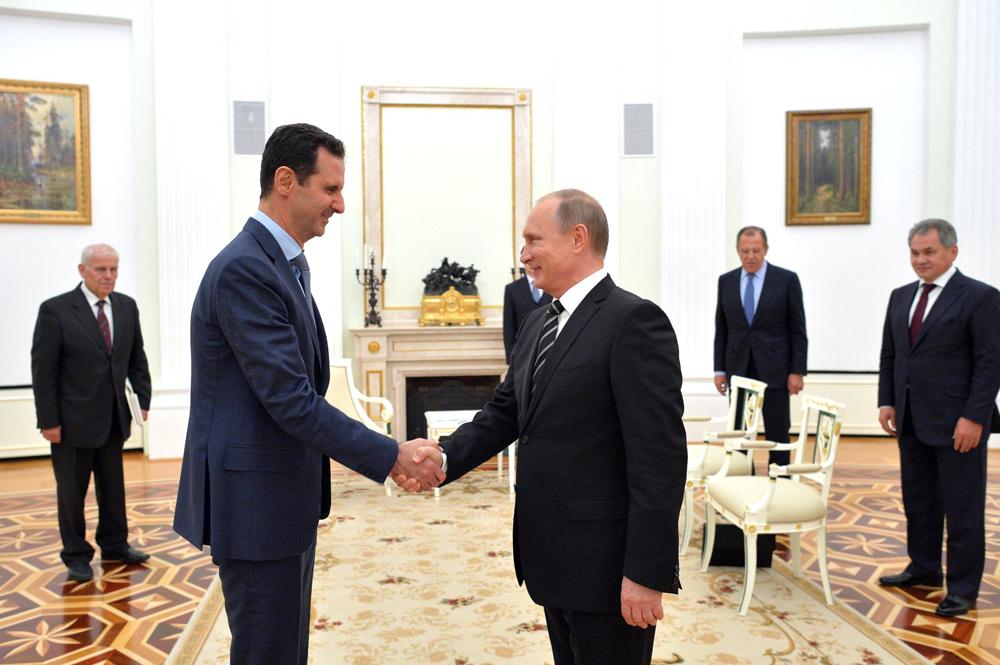 Presiden Suriah Bashar Assad menemui Presiden Rusia Vladimir Putin di Moskow, Rusia.