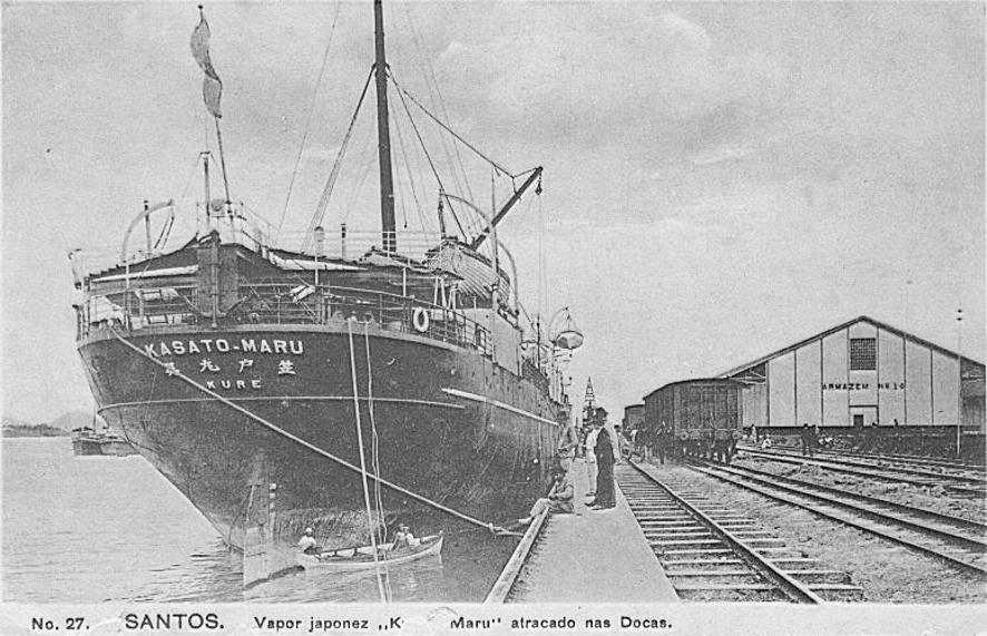Navio trouxe primeiros imigrantes japoneses ao Brasil, em 1908.