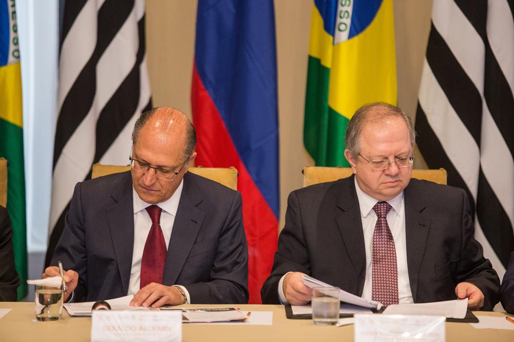 No Palácio dos Bandeirantes, Alckmin e Akopov discutiram relações comerciais e culturais