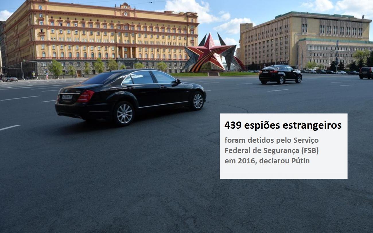 Sede do FSB, órgão que substituiu a KGB Foto: Evguêni Odinokov/RIA Nôvosti