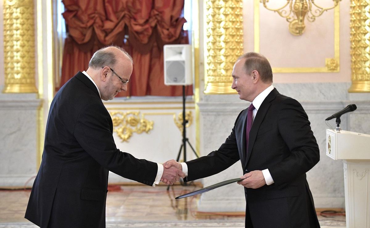 Anúncio de visita de Temer se deu durante apresentação de credenciais do novo embaixador brasileiro em Moscou, Antonio Luis Espinola Salgado. / Foto: kremlin.ru