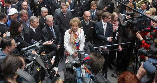 Ex-Gouverneurin St. Petersburgs Walentina Matwijenko eröffnet das Marinemuseum. Foto: ITAR-TASS