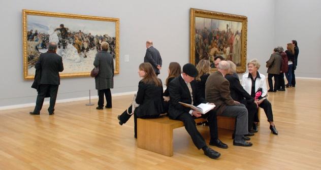 Gemälde der Wandermaler in den Kunstsammlungen Chemnitz. Foto: Andre Koch