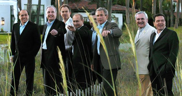 Alle zusammen: Wladimir Putin beim G8-Gipfel im Jahr 2005. Foto: RIA Novosti