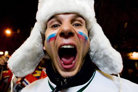 Ein russischer Fußball-Fan. Foto: ITAR-TASS