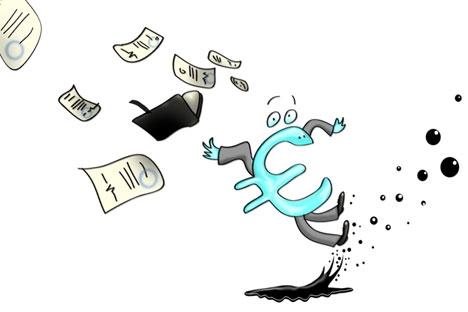 Der Euro muss vorsichtig sein. Bild: Niyaz Karim