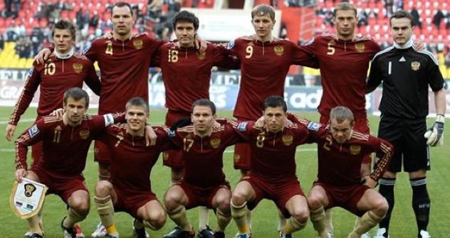 Die russische Nationalmanschaft. Foto: Russischer Fussball Verband