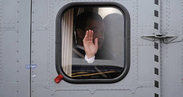 Vier Jahre war Medwedjew im Amt. Aufgrund einer Verfassungsänderung im Jahr 2008 wird sein Nachfolger Wladimir Putin sechs Jahre Präsident bleiben. Foto: Corbis/FotoSa