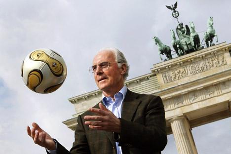 Deutsche Fußball-Legende Franz Beckenbauer. Foto: ITAR-TASS