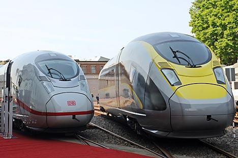 Die in Deutschland für Russland produzierten Desiro-Züge: Ein Beispiel für eine erfolgreiche deutsch-russische Zusammenarbeit. Foto: ITAR-TASS
