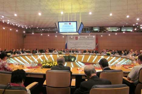 Beim Wirtschafts- und Investitionsforum Bayern-Moskau trafen sich am Dienstag bayerische und russische Unternehmer. Foto: Pressebild