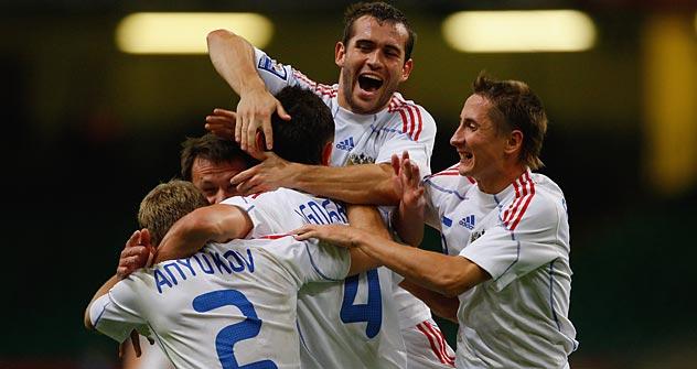 Wie viel wird das russische Team (hier 2010) bei der EM 2012 zu feiern haben? Foto: Getty Images/ Fotobank
