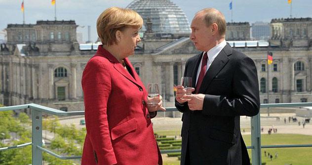 Wladimir Putin zum Antrittsbesuch in Berlin .Foto: kremlin.ru