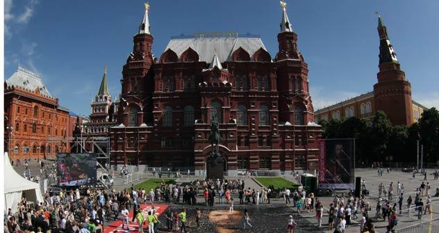 """Das berühmte """"Selbstbildnis im Pelzrock"""" von Albrecht Dürer eröffnete am 20. Juni in Moskau das Deutschlandjahr in Russland. Foto: ITAR-TASS"""