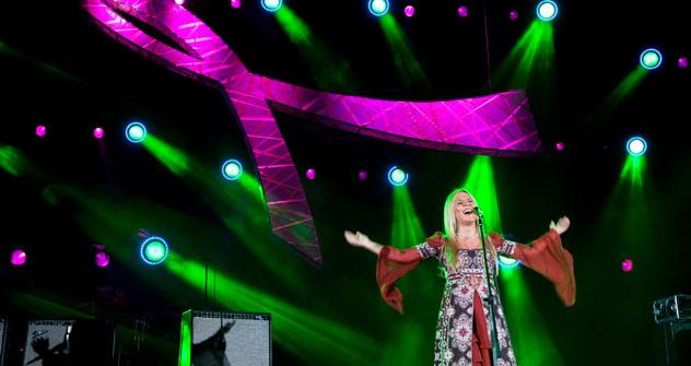 Russische Stimme: Pelageya begeistert mit ihrem kraftvollen Gesang. Foto: ITAR-TASS