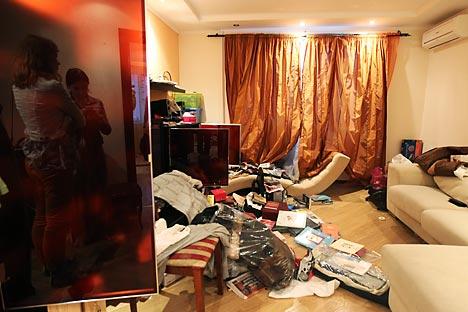 Hausdurchsuchung bei Blogger Nawalny.Foto: AP