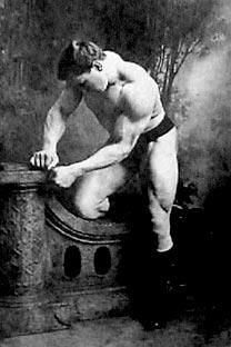 """Georg Hackenschmidt trat als """"The Russian Lion"""" (der Russische Löwe) an, war aber ein Deutscher. Foto: James Steakley"""