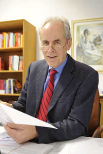 Prof. Dr. Christian Pfeiffer, Leiter des Kriminologischen Instituts Niedersachsen. Foto: DPA/Vostock-photo