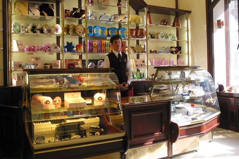 Russische Schokoladenboutiquen Confael sind bekannt für ihre handgemachten Pralinen. Foto: PhotoXPress